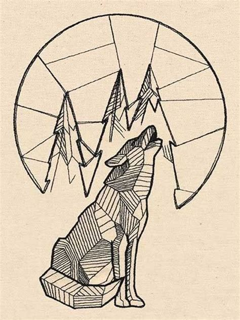 geometric wolf woman tattoo google search tattoo ideas pinterest geometric wolf wolf