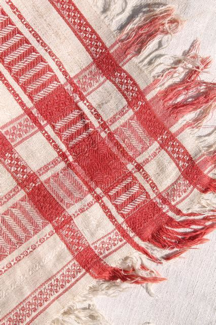 vintage french linen damask tablecloth for farmhouse table