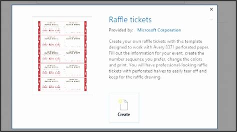 microsoft office templates raffle ticket home design