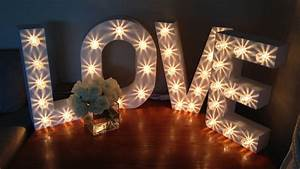 products written in lights With 3ft marquee letters