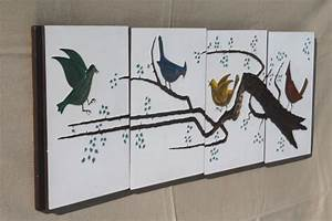birds on a branch vintage yard long wall art set of With what kind of paint to use on kitchen cabinets for birds on a branch wall art