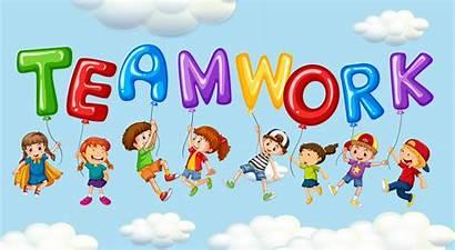 Teamwork Word Balloons Graphics Clipart Children Boy