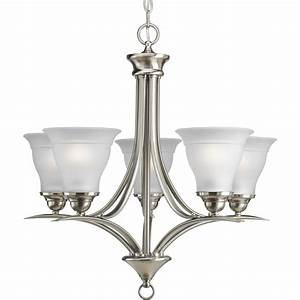 Lowes chandelier light covers : Progress lighting trinity in light brushed