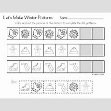 Winter Pattern Printables  Janauary And February  Preschool Math, Winter Activities For Kids