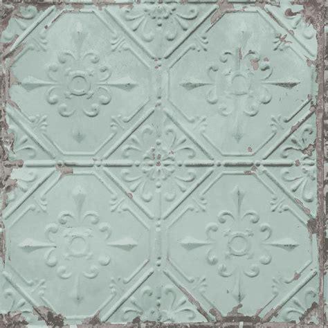 B&Q Duck Egg Conversational Metallic Wallpaper, paste