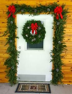 Garland, And, Wreath, Door, Decorations, Set