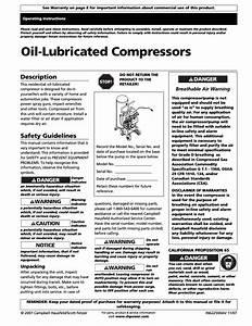 Campbell Hausfeld Air Compressor User Manual