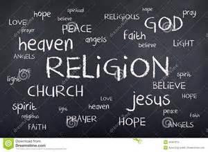 religion word cloud on chalkboard stock illustration image 45397814