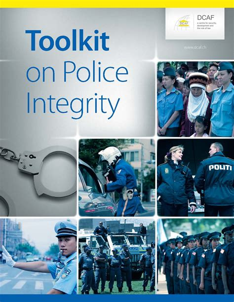 toolkit  police integrity security sector integrity
