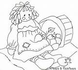 Flickr Coloring Rag Doll Patterns Rabiscos Riscos Embroidery Raggedy Ann Printable Dolls Ragdoll sketch template
