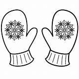 Mittens Coloring Mitten Winter Snowflake Clipart Printable Sheets Sheet Drawing Colouring Template Snowman Snowflakes Craft Kindergarten Applique Preschool Teaching Hat sketch template