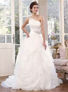 Wedding dresses with jeweled straps sang maestro for One strap wedding dresses
