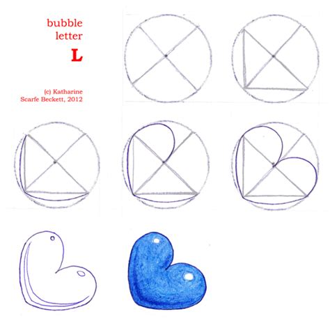 how to make a l how to draw bubble letters page 3