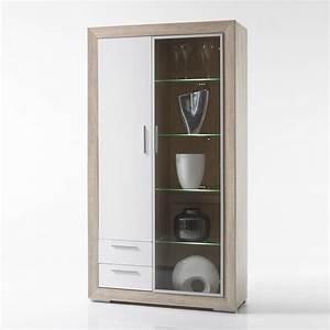 Standvitrine Weiß Hochglanz : vitrine fernando standvitrine schrank in sonoma eiche wei ~ Watch28wear.com Haus und Dekorationen