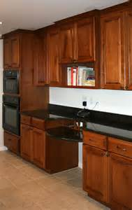 Maple Kitchen Cabinets with Cherry Stain