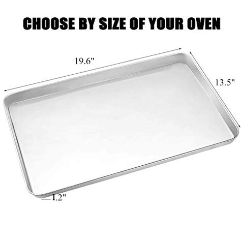 sheet cookie pan tray less cooling rack half stainless steel rust oven inches stick clean easy baking dishwasher safe