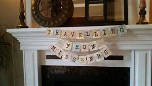 travel theme bridal shower banner quottraveling from miss With destination wedding bridal shower ideas
