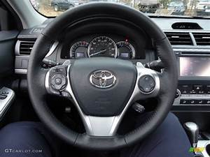 2012 Toyota Camry Se Black  Ash Steering Wheel Photo