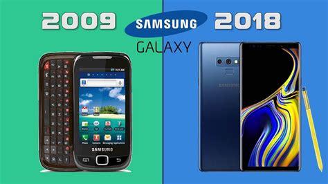 evolution  samsung galaxy smartphones youtube