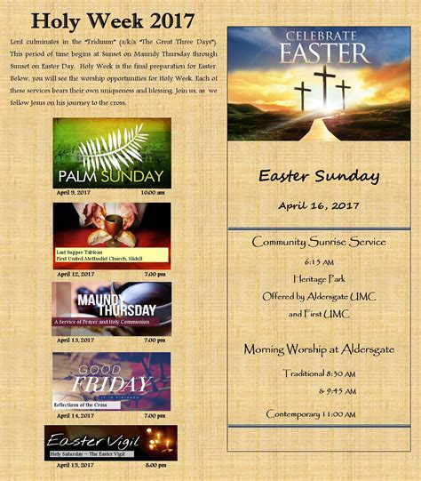 aldersgate slidell united methodist church 338 | HOly Week and Easter