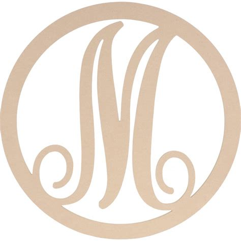 script circle monogram wooden letter  ab