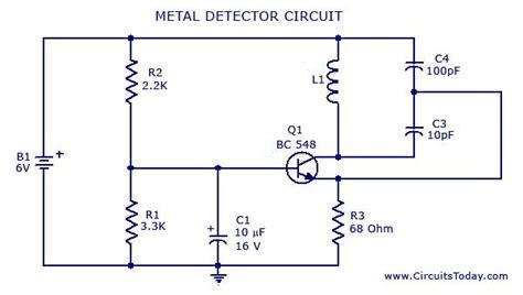 Metal Detector Circuit Diagrams Schematics Electronic