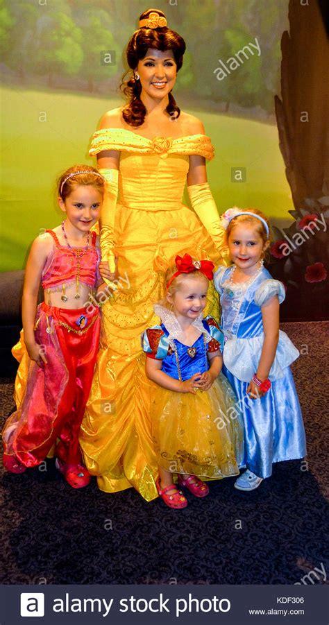 Meeting Belle at Disney World Princess