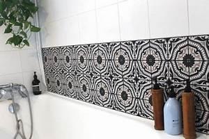 Carrelage Adhesif Pour Salle De Bain : panneau mural adhesif cuisine awesome pcs d mousse pierre brique autoadhsif sticker mural salon ~ Mglfilm.com Idées de Décoration