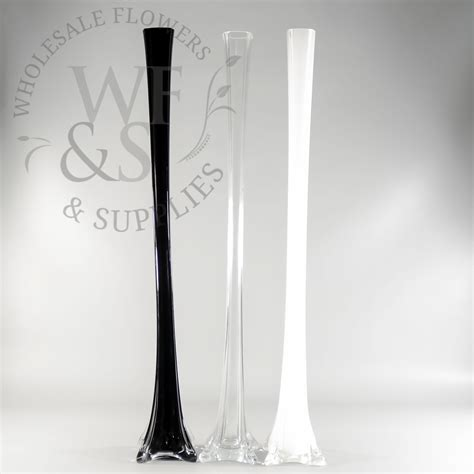 white eiffel tower vases 28 quot glass eiffel tower vase wholesale flowers and supplies