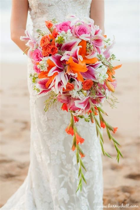 orange wedding bouquets ideas  pinterest