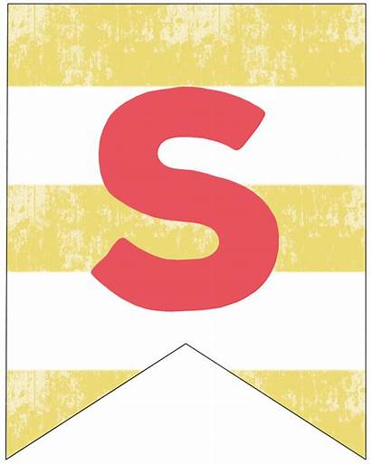 Banner Summer Printable Flags Letter Letters Decor