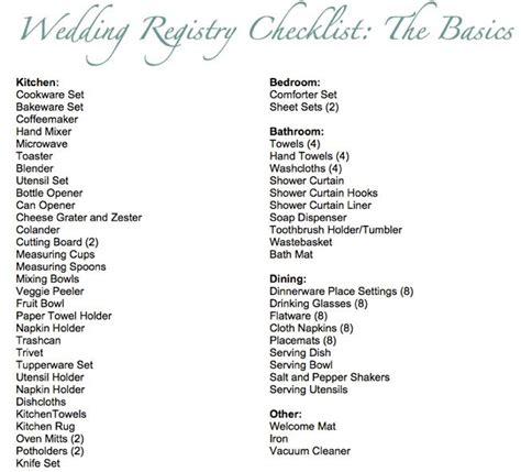 Kitchen Kaboodle Gift Registry by 25 Best Ideas About Wedding Registry Checklist On