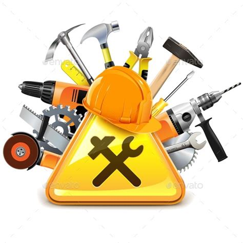 construction tools clipart construction tools with sign by dashadima graphicriver