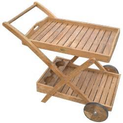 teak 33 quot serving cart outdoorfurnitureplus