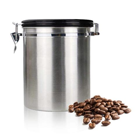 kitchen storage canister botique coffee flour sugar stainless steel container