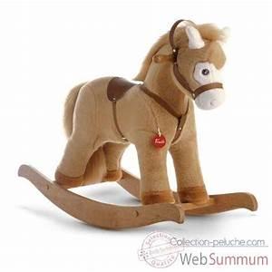 Cheval A Bascule : cheval bascule beige trudi 29703 dans cheval bascule sur collection peluche ~ Teatrodelosmanantiales.com Idées de Décoration