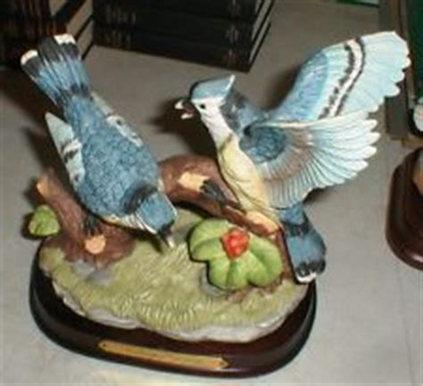 Wellington Collection BLUE JAY Bird Porcelain Hand Painted