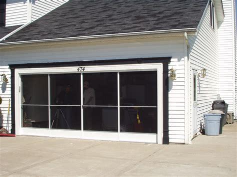 screen garage door garage screen door patio enclosure installation gallery