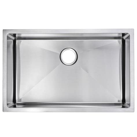 Water Creation Undermount Small Radius Stainless Steel