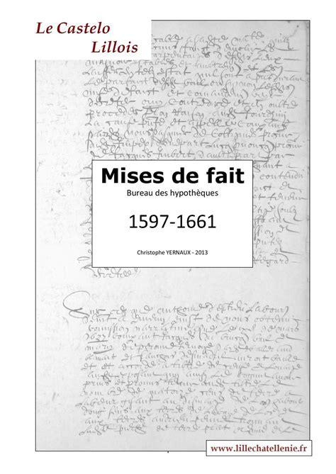 Calaméo  Mises De Fait  Bureau Des Hypothèques 15971661
