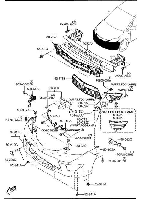 Mazda 6 Engine Part Diagram by Parts Mazda Parts