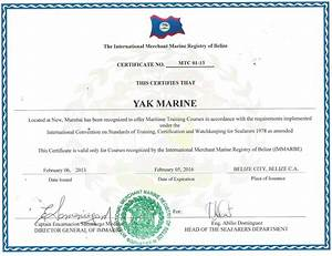 certificate of competency belize coc With competency certificate template