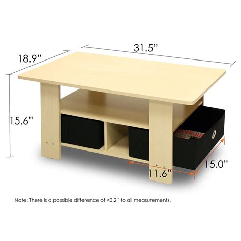 average coffee table size standard coffee table dimensions