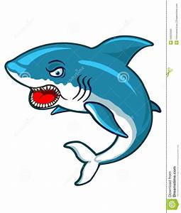 Angry Shark Cartoon Stock Vector - Image: 54525560