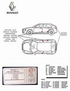 Code Couleur Voiture Renault : kit stylo retouche peinture carrosserie pour renault net color ~ Gottalentnigeria.com Avis de Voitures