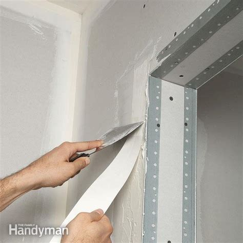 to make a door in drywall drywall taping tips the family handyman How