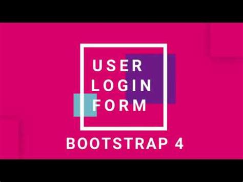 user login form with bootstrap4 with php mysqli validation