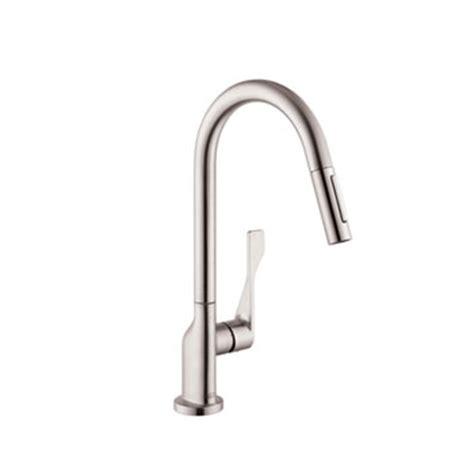 axor citterio kitchen faucet hansgrohe 39835801 axor citterio kitchen faucet with 2 spray pull out steel optik