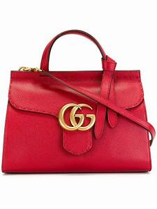 Gucci Double Gg Shopping Bag in Red   Lyst