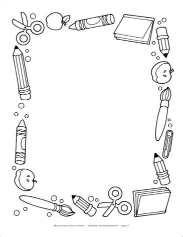 14812 school border clipart black and white bck to school border black and white recherche